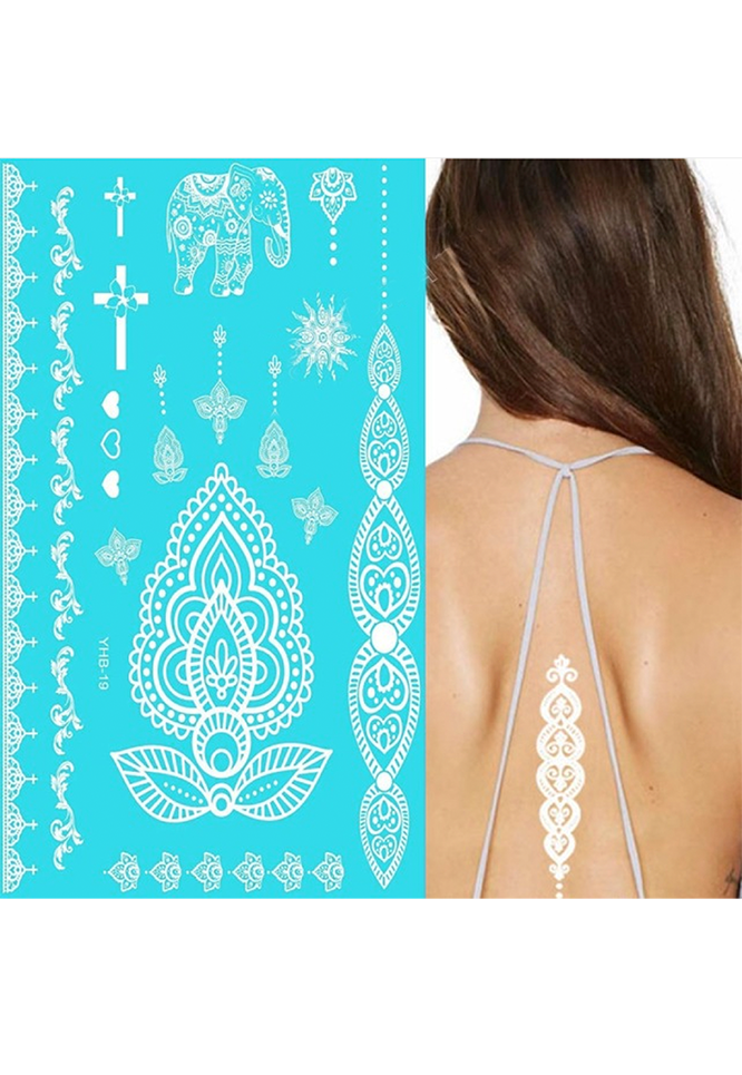 temporary tattoo white